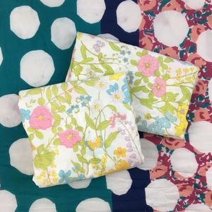 Vintage Floral Sheet Set Twin Fitted and Flat